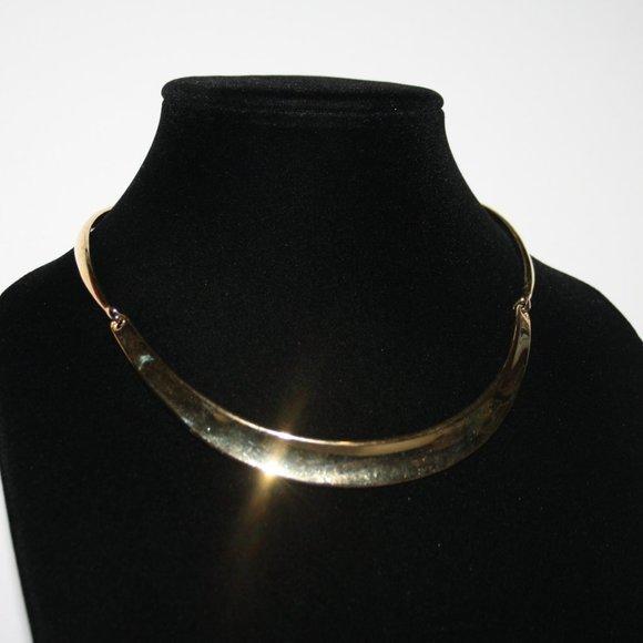 Beautiful gold collar necklace 14-16